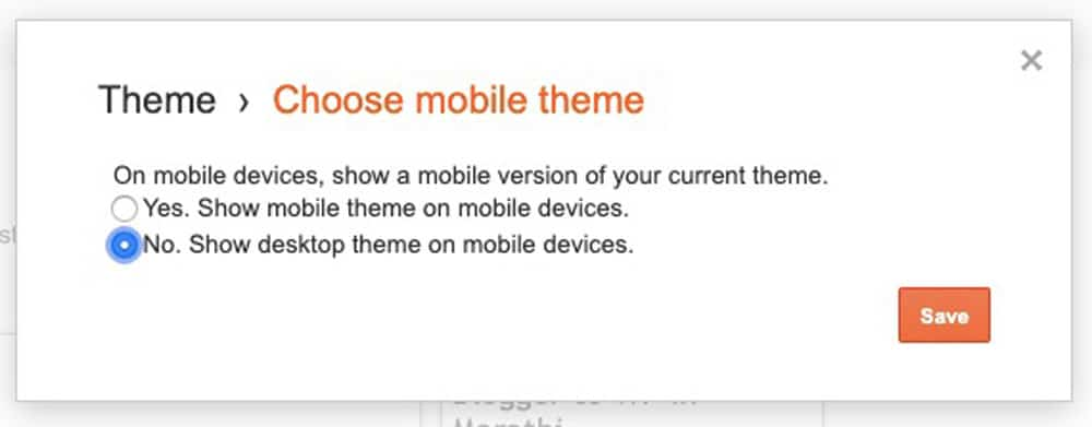 No. Show desktop theme on mobile devices
